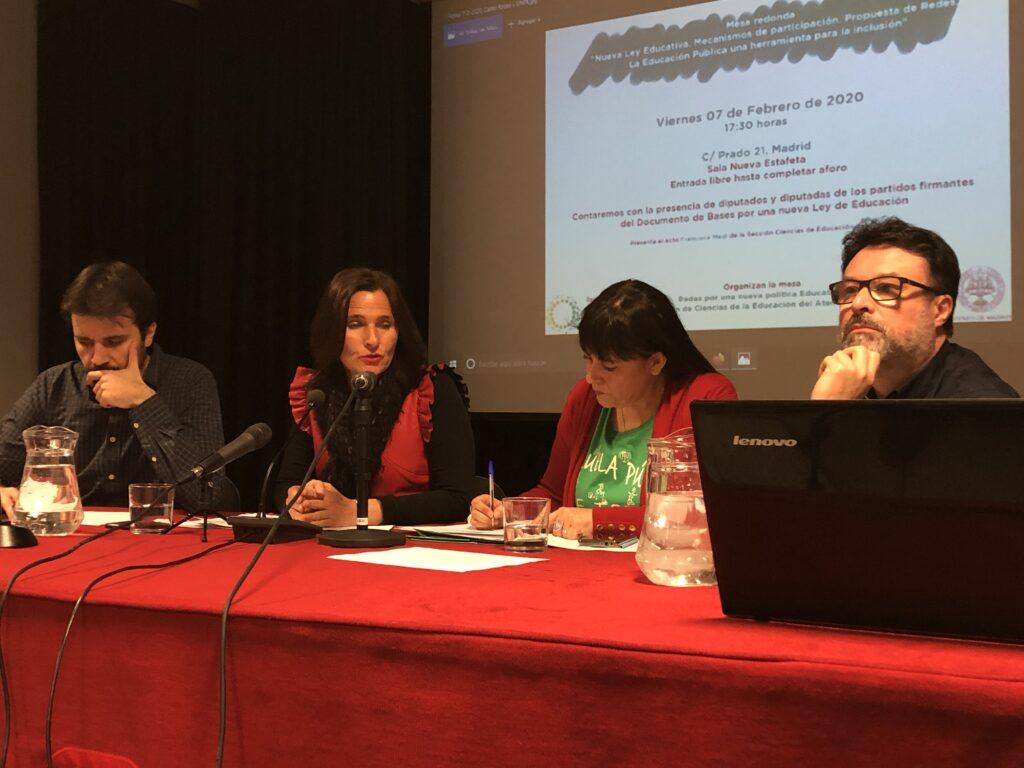 Los cuatro ponentes del debate explican la nueva ley.
